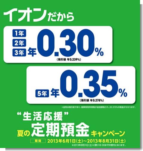 生活応援 夏の定期預金キャンペーン|キャンペーン|イオン銀行